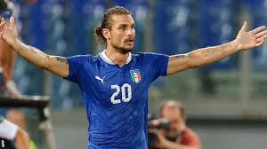 Osvaldo celebrates his recent goal against Denmark...