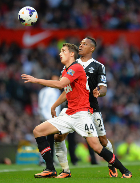 While all the media talk was of getting Kosovan Januzaj to play for England, Englishman Clyne was giving him a lesson at Old Trafford...