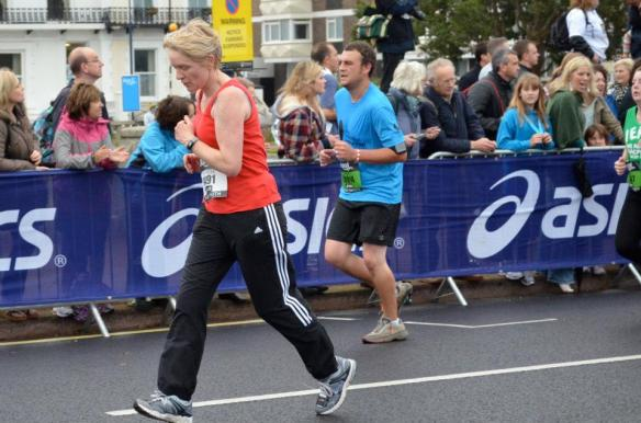 Me (the one in the blue) at the Great South Run in 2011.